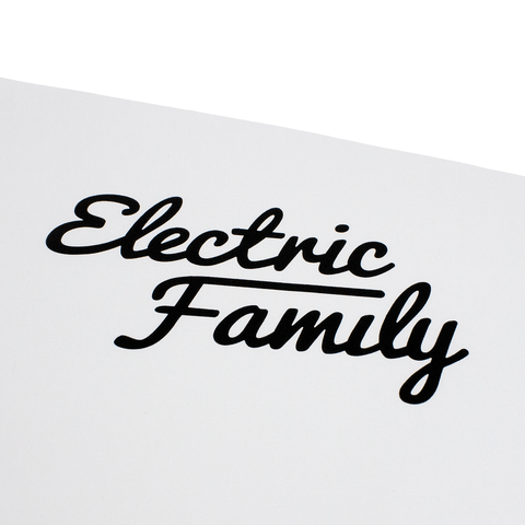 Script / Die Cut Sticker Black