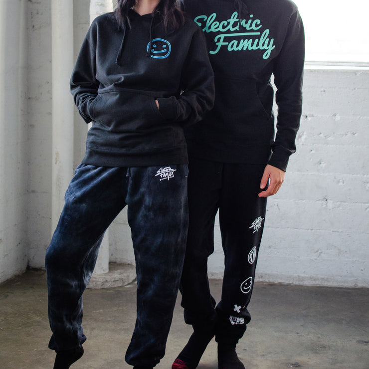 Graffiti Script Dye Joggers - Joggers - Electric Family Official Artist Merchandise