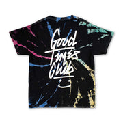 Good Times Club Tie Dye Tee - Black - Standard Tee - Electric Family Official Artist Merchandise