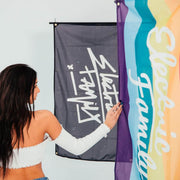 Splatter Graffiti Script Flag