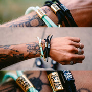 Kazoku New School (Aqua/Gold) - New School Bracelet - Electric Family Official Artist Merchandise