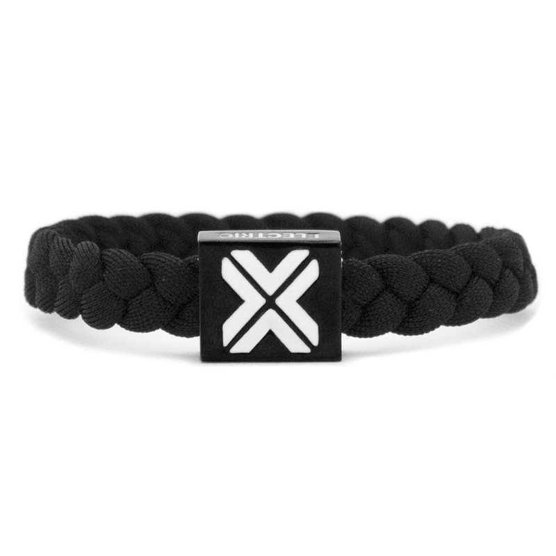 X Bracelet / Blk - Original Woven -  Electric Family-  Electric Family Official Artist Merchandise