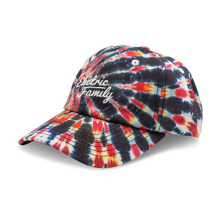 Script Tie Dye Hat - Dad Hat - Electric Family Official Artist Merchandise