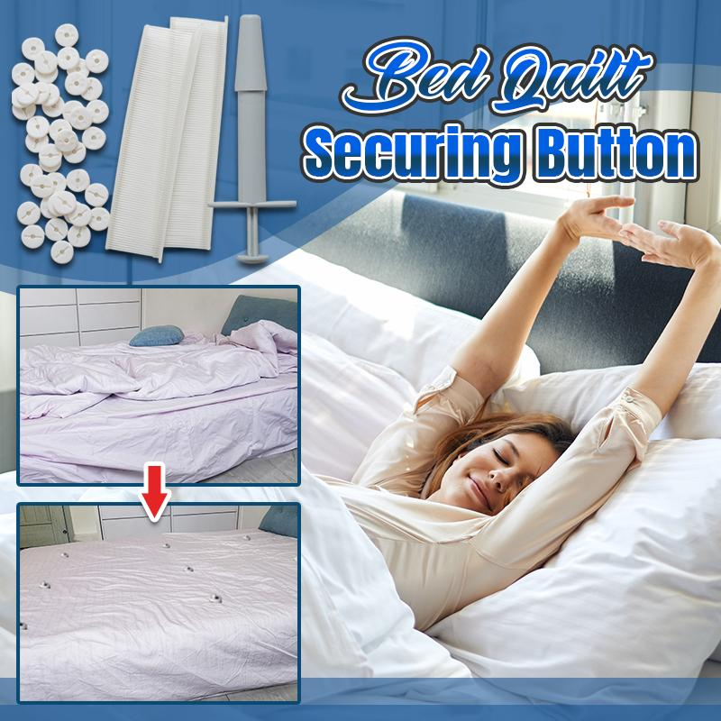 Bed Quilt Securing Button