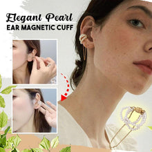 Load image into Gallery viewer, Elegant Pearl Ear Magnetic Cuff