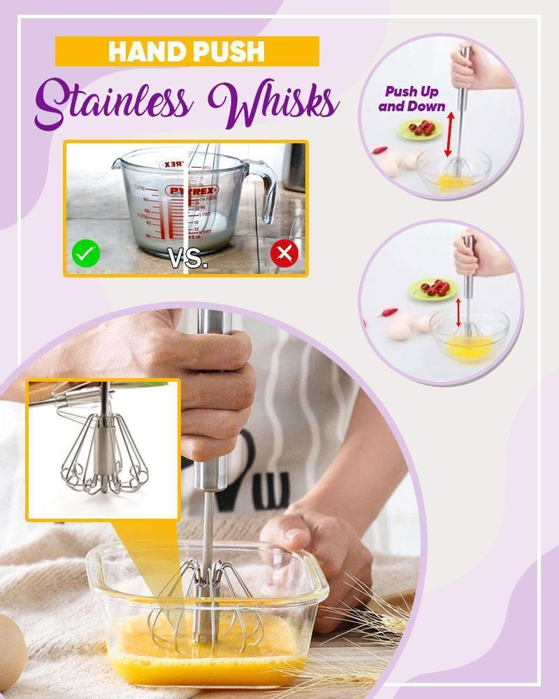 Hand Push Stainless Whisks