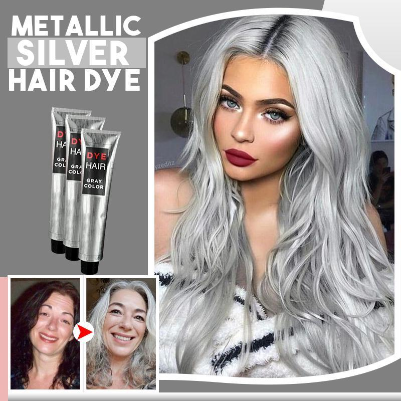 Metallic Silver Hair Dye