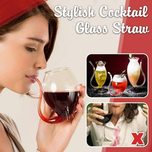 Load image into Gallery viewer, Stylish Cocktail Glass Straw