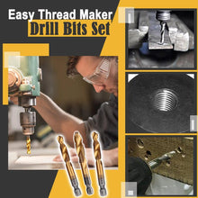 Load image into Gallery viewer, Easy Thread Maker Drill Bit Set