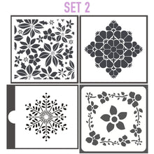 Load image into Gallery viewer, Reusable Tile Stencil Set Of 4