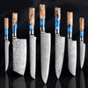 Chef Knives - Professional Japanese Knives - Wood Handle Stainless Steel Chef Knife Set 7 Pieces