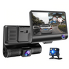 Dash Cam Car Camera -  Front And Rear Dashcam with Reversing Camera - Dashboard Car Reverse Camera - Rear View Mirror Camera