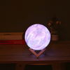 Moon Lamp and Galaxy Lamp - 16 Colors 3D LED Ceramic Moon Night Light - Rechargeable Remote Control Moon Light Lamp