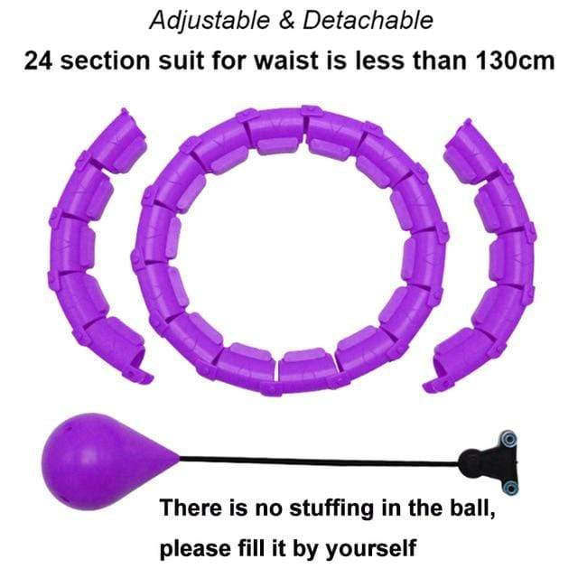 SearchFindOrder Purple / China Smart Adjustable Weighted Hula Hoop