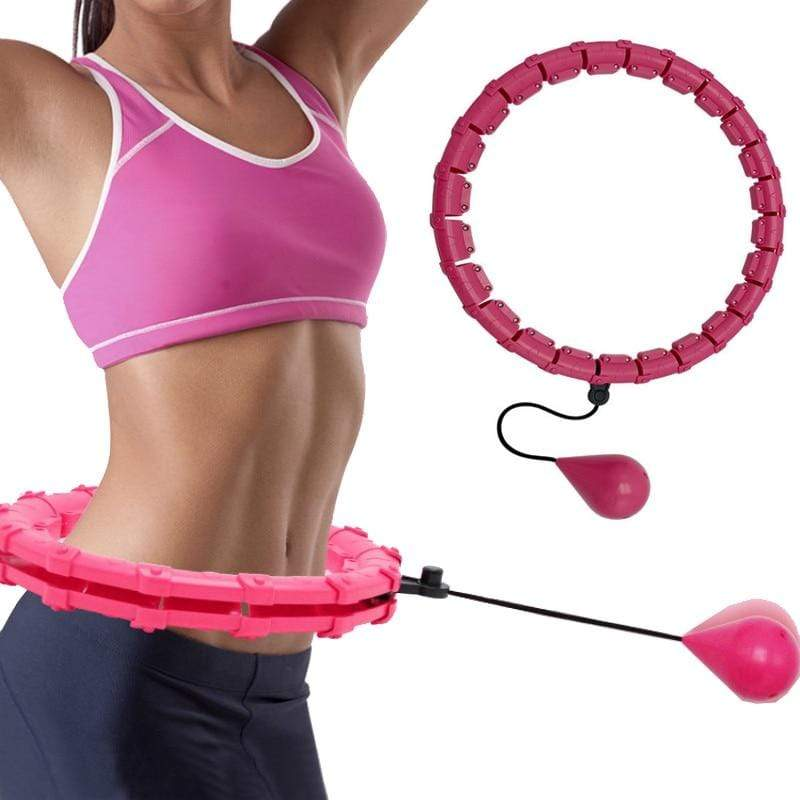 SearchFindOrder Smart Adjustable 24-Knot Fitness Hula Hoop with Auto-Spinning Weighted Waist Exercise Ball