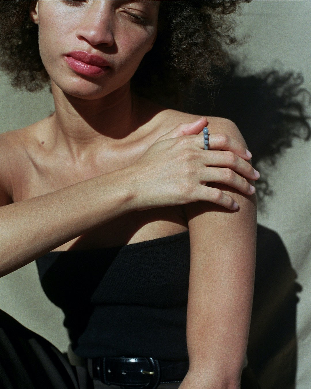 Tiana Marie Combes Relic Ring in Roan, on model.