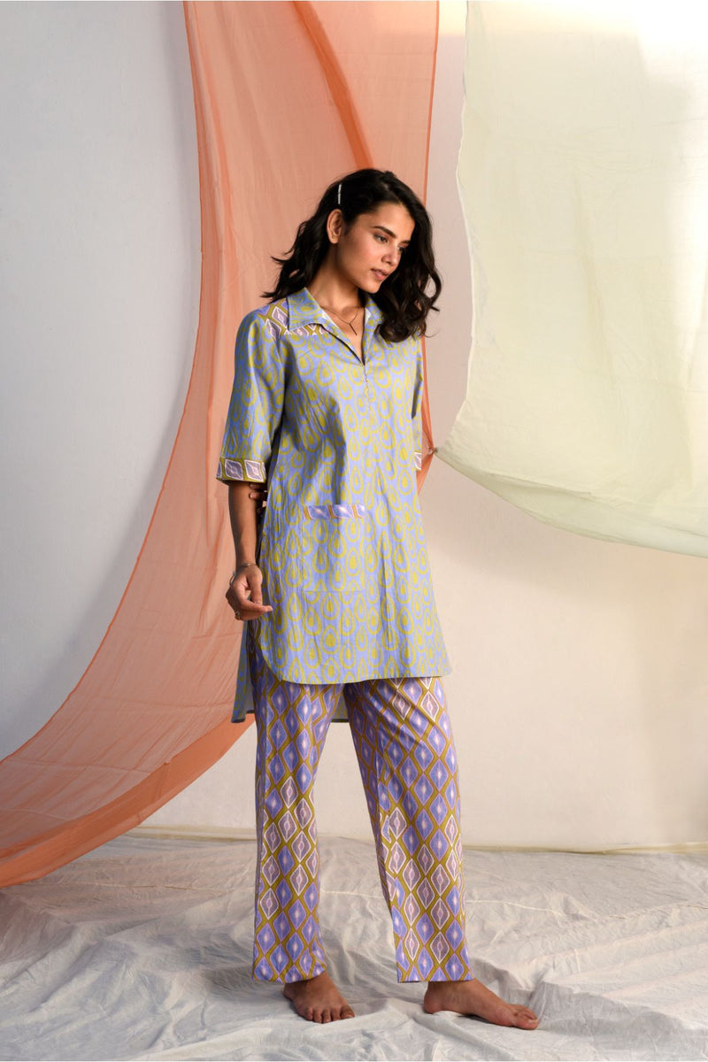 Vibrant Pathani Style Round Kurta - Bluebell Palette - Vibrant Collection -DreamSS by Shilpa Shetty
