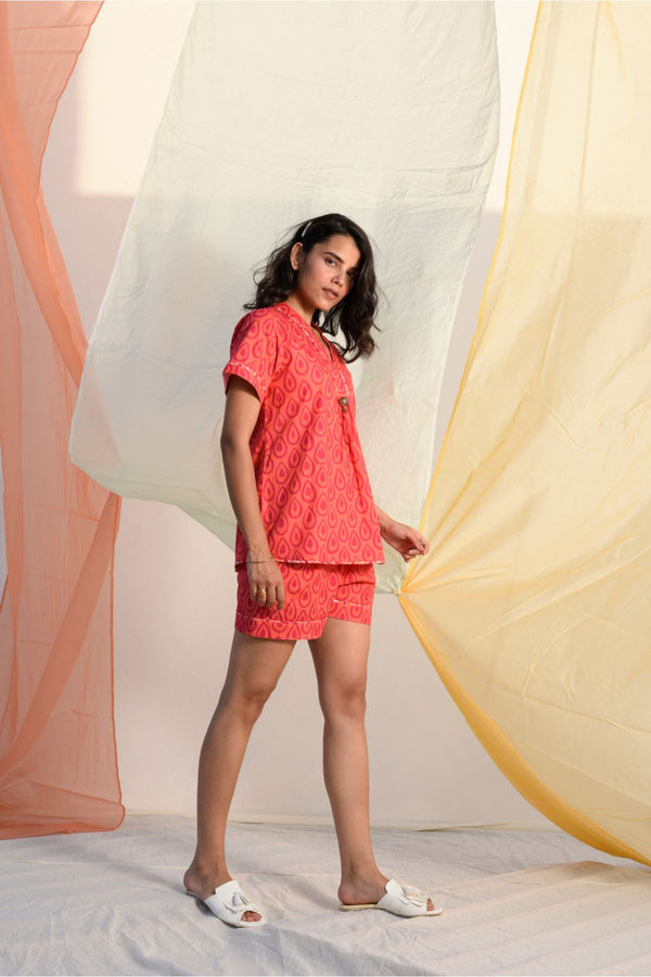 Vibrant Shorts Set - Mandarin Palette - Vibrant Collection -DreamSS by Shilpa Shetty