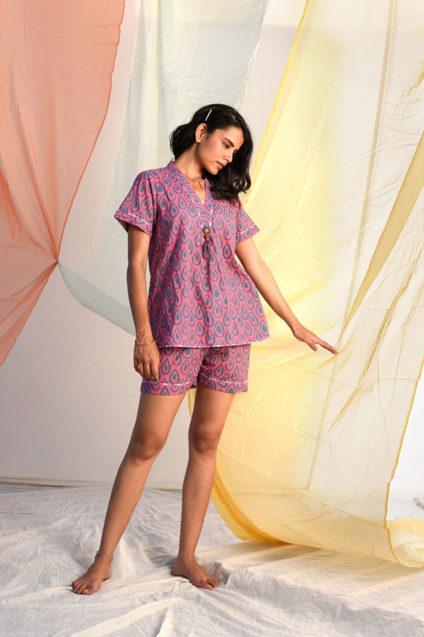 Vibrant Shorts Set - Rose Pink Palette - Vibrant Collection -DreamSS by Shilpa Shetty