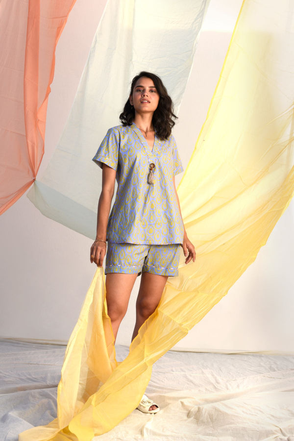 Vibrant Shorts Set - Bluebell Palette - Vibrant Collection -DreamSS by Shilpa Shetty