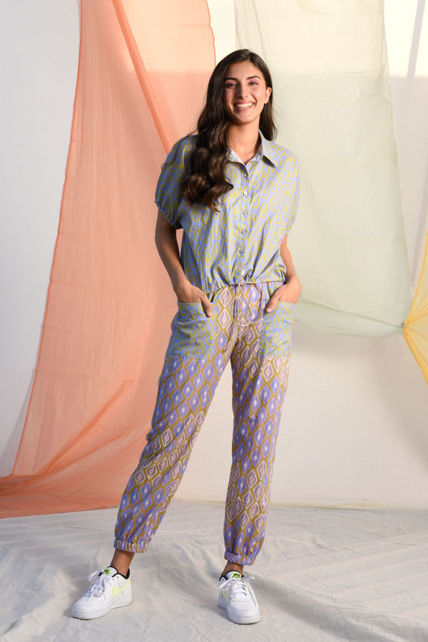 Pull String Shirt with Harem Pants - Bluebell Palette - Vibrant Collection -DreamSS by Shilpa Shetty