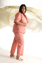 Print Play Pyjama Set - Peach - Print Play Collection -DreamSS by Shilpa Shetty