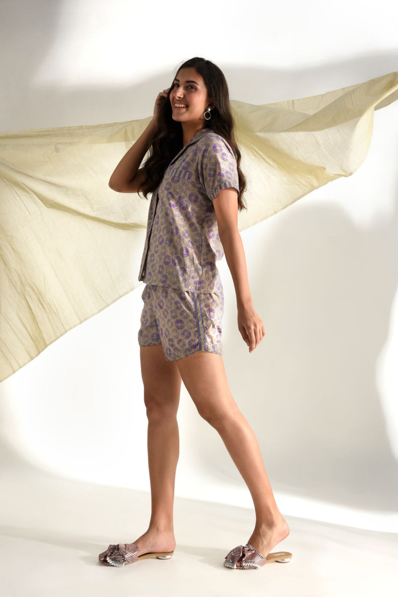 Print Play Shorts Set - Lilac - Print Play Collection -DreamSS by Shilpa Shetty
