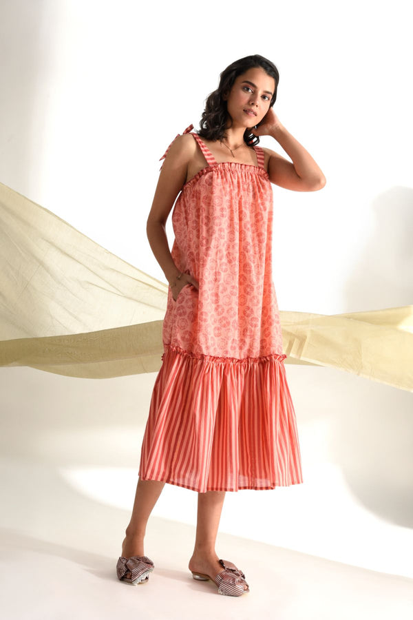 Print Play Maxi Dress - Peach - Print Play Collection -DreamSS by Shilpa Shetty