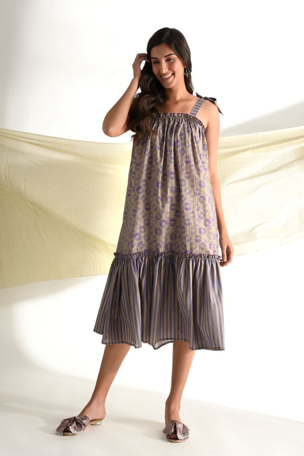 Print Play Maxi Dress - Lilac - Print Play Collection -DreamSS by Shilpa Shetty