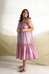 Print Play Maxi Dress - Rose Pink - Print Play Collection -DreamSS by Shilpa Shetty