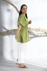 Bandhani Short Kaftan - Forest Green - Bandhani Collection -DreamSS by Shilpa Shetty