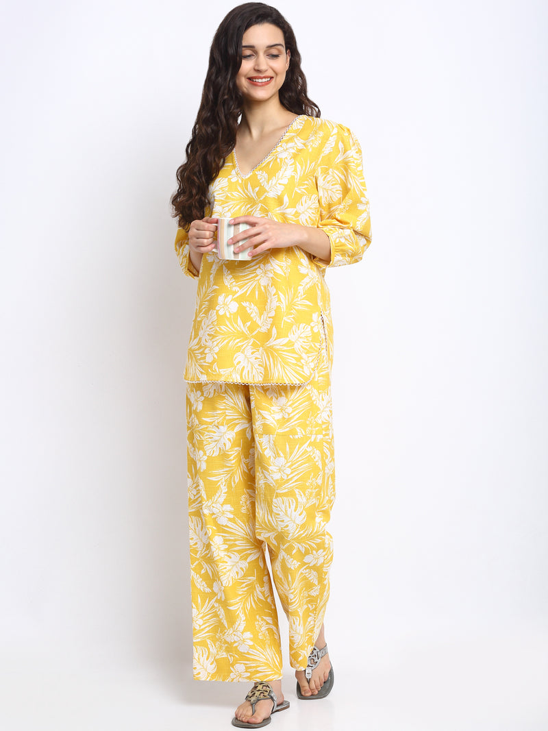 Sunshine Yellow Lounge Pyjama Set