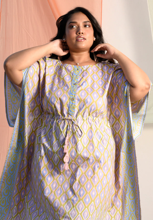 Vibrant Blueberry Long Kaftan - Vibrant Collection -DreamSS by Shilpa Shetty