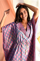 Vibrant Mid Length Kaftan - Fuchsia Pink - Vibrant Collection -DreamSS by Shilpa Shetty