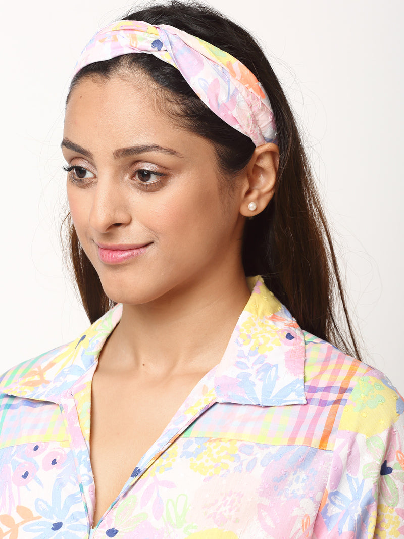 Multicolour Mandarin bluebell Checks Kurta & Pyjama Set