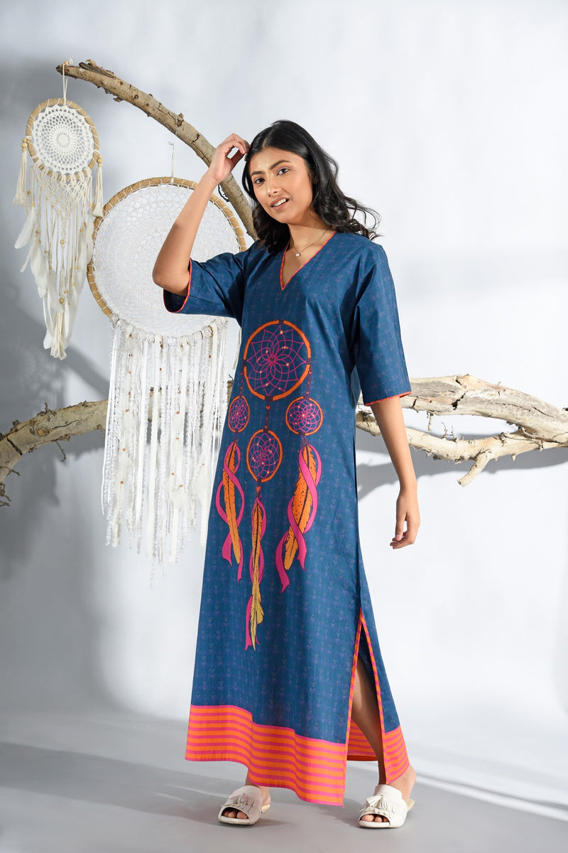 Dreamcatcher Midnight Blue Long Nightgown