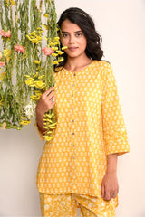 Print on Print Lounge Set - Sunshine Yellow - Floral Collection -DreamSS by Shilpa Shetty