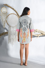 Dreamcatcher Shirt Dress - Ash Grey - Dreamcatcher Collection -DreamSS by Shilpa Shetty