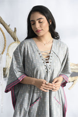 Dreamcatcher Long Kaftan - Ash Grey - Dreamcatcher Collection -DreamSS by Shilpa Shetty