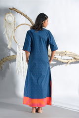 Dreamcatcher Midnight Blue Long Nightgown - Dreamcatcher Collection -DreamSS by Shilpa Shetty