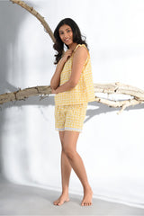 Sunshine Yellow Comfy Nights Shorts Set - Sunshine Yellow - Comfy Nights Collection -DreamSS by Shilpa Shetty