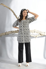 Monochrome Print Play Pyjama Set - Monochrome - Print Play Collection -DreamSS by Shilpa Shetty