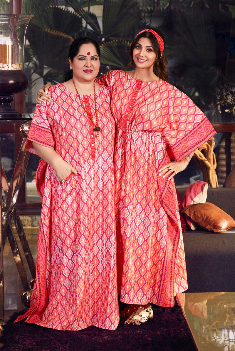 SSK VIBRANT CRIMSON RED KAFTAN
