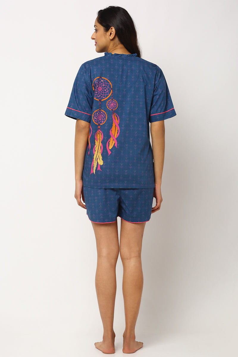 Dreamcatcher Shorts Set - Midnight Blue