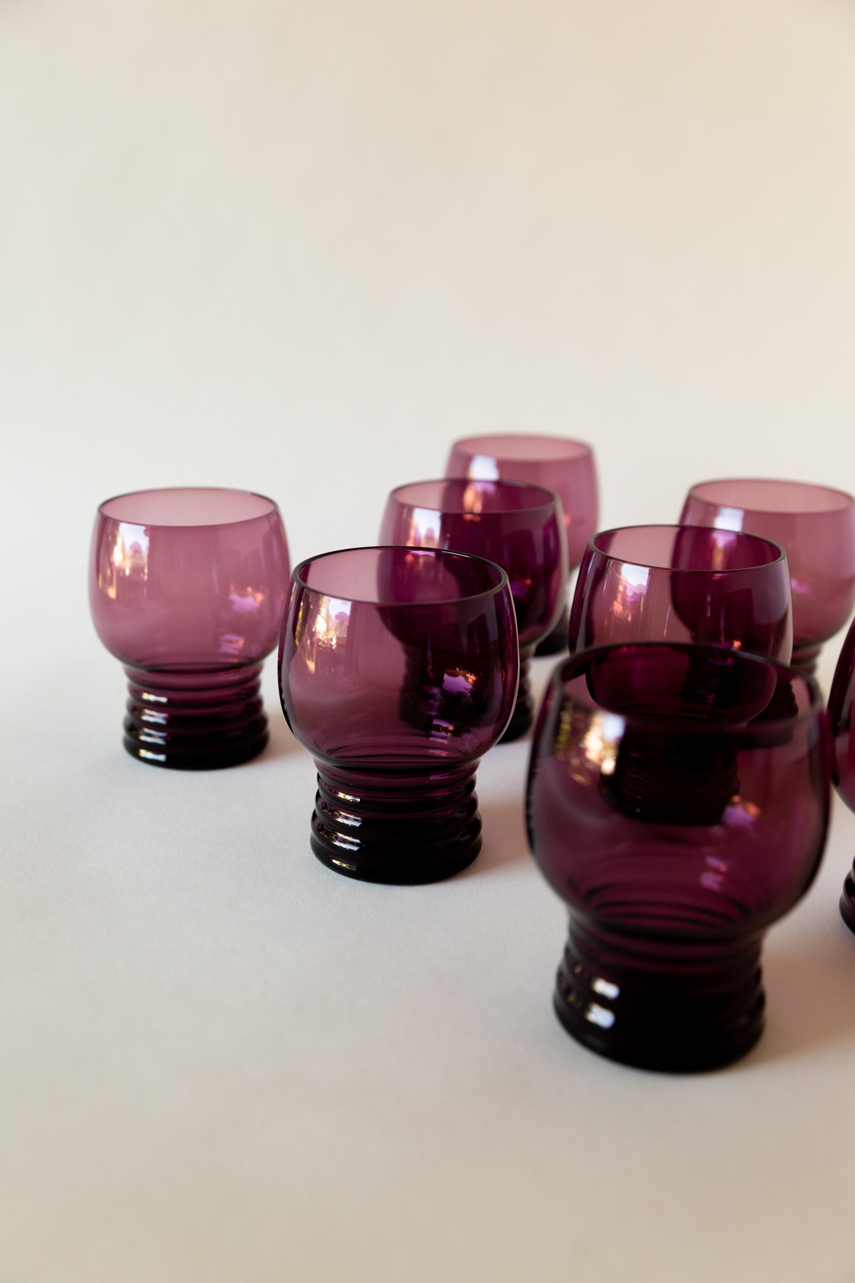 Amethyst Cocktail Cups, set of 8