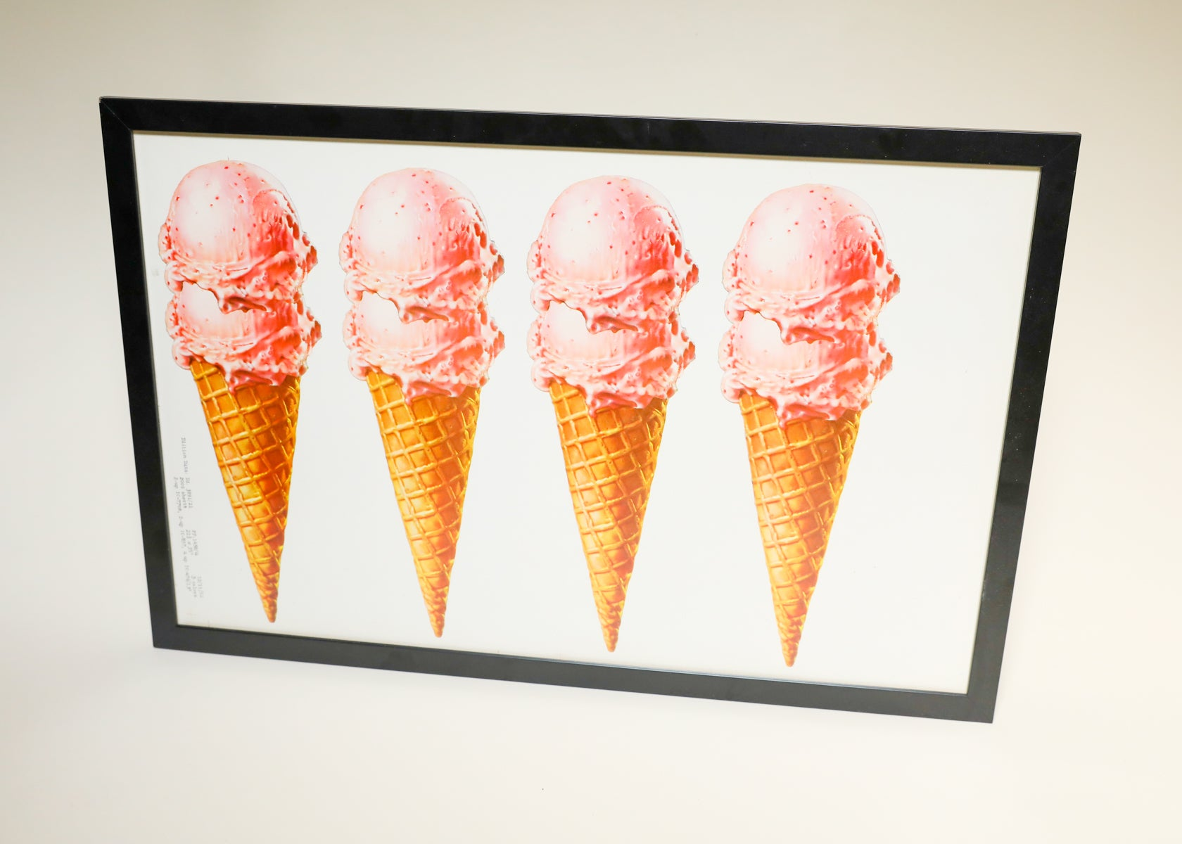 Framed Graphic Ice Cream Advertisement, 1952