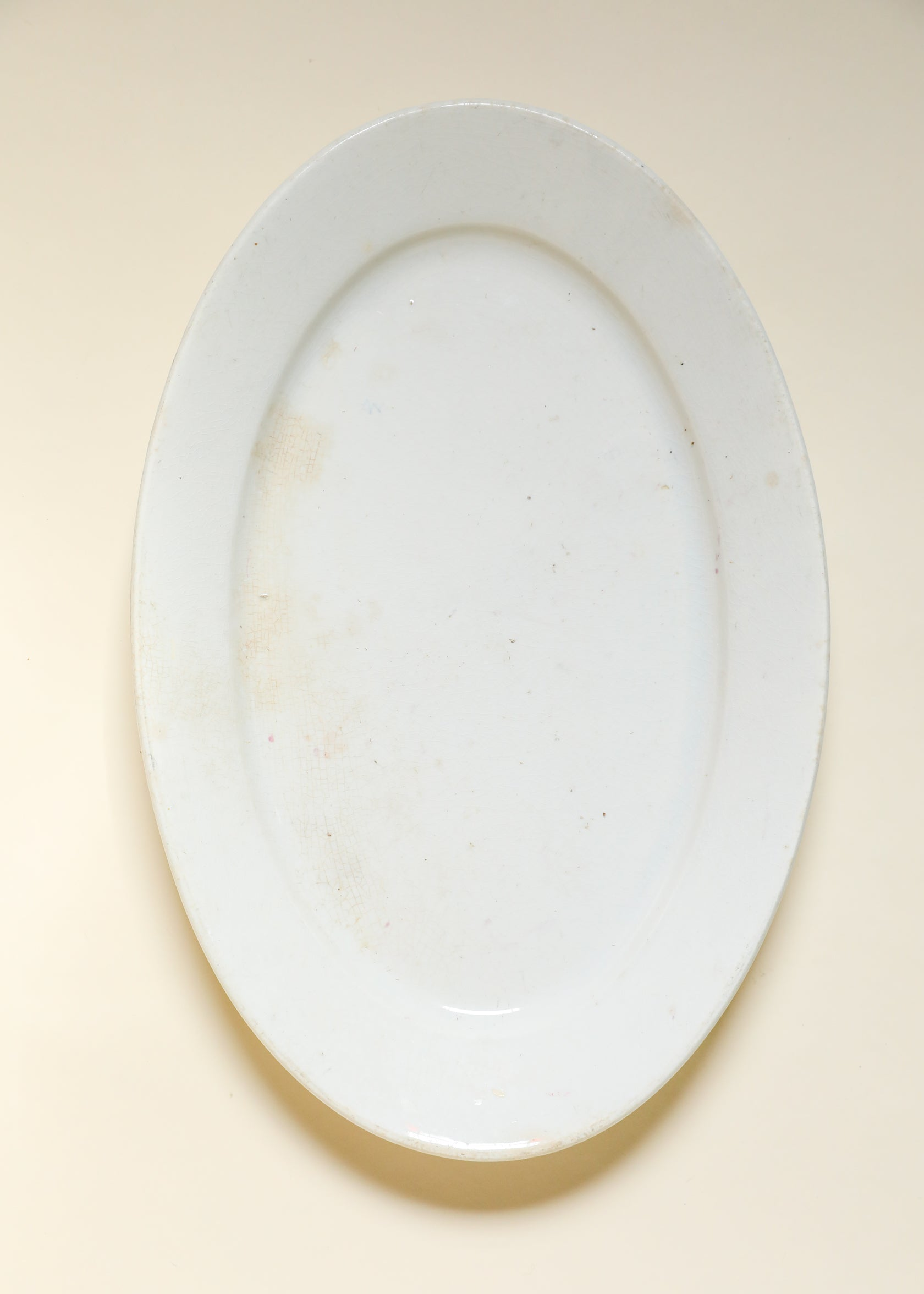 Cook and Hancock Oval Ironstone Serving Platter, late 1880s