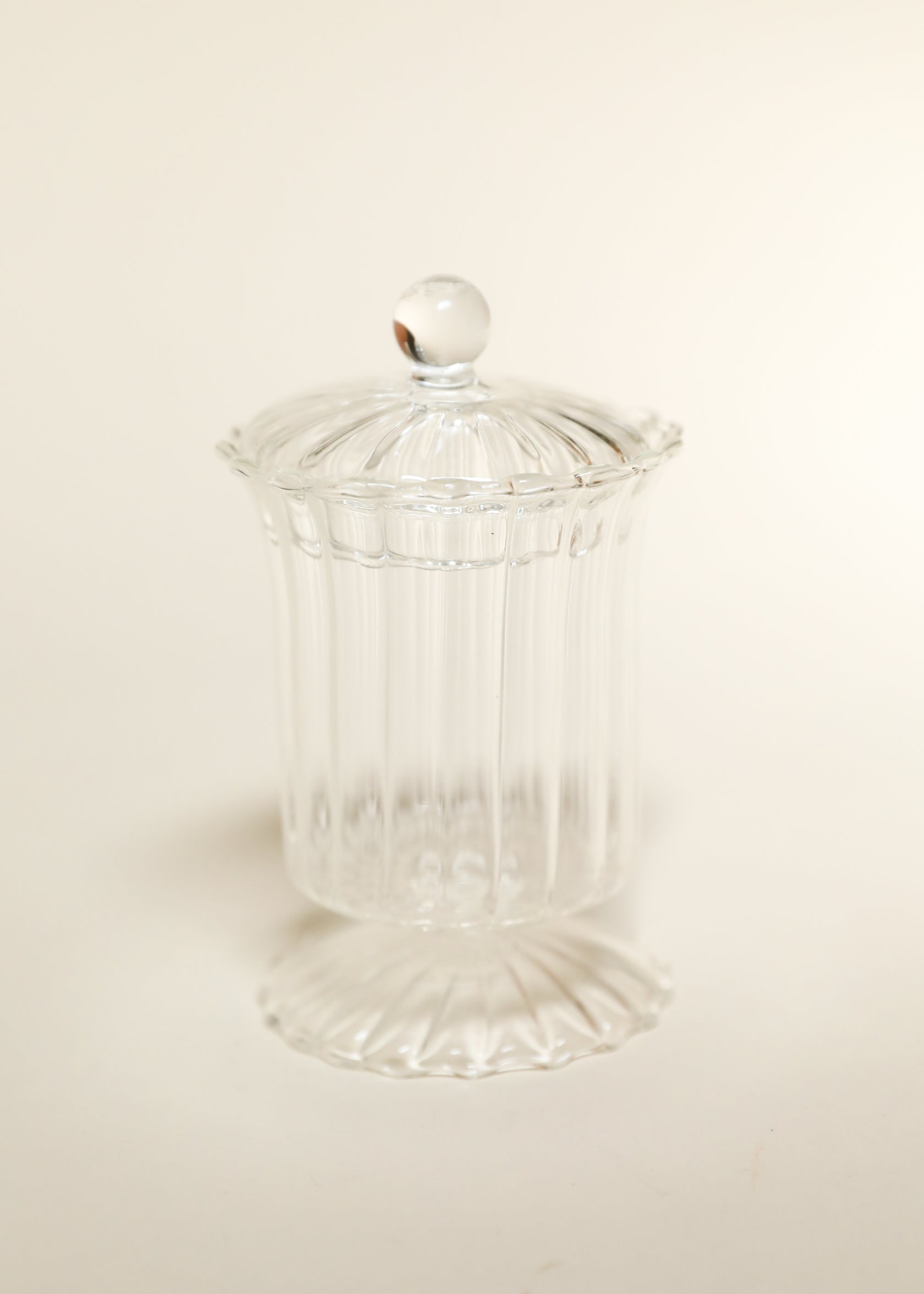 Ornate Glass Vessel with Lid