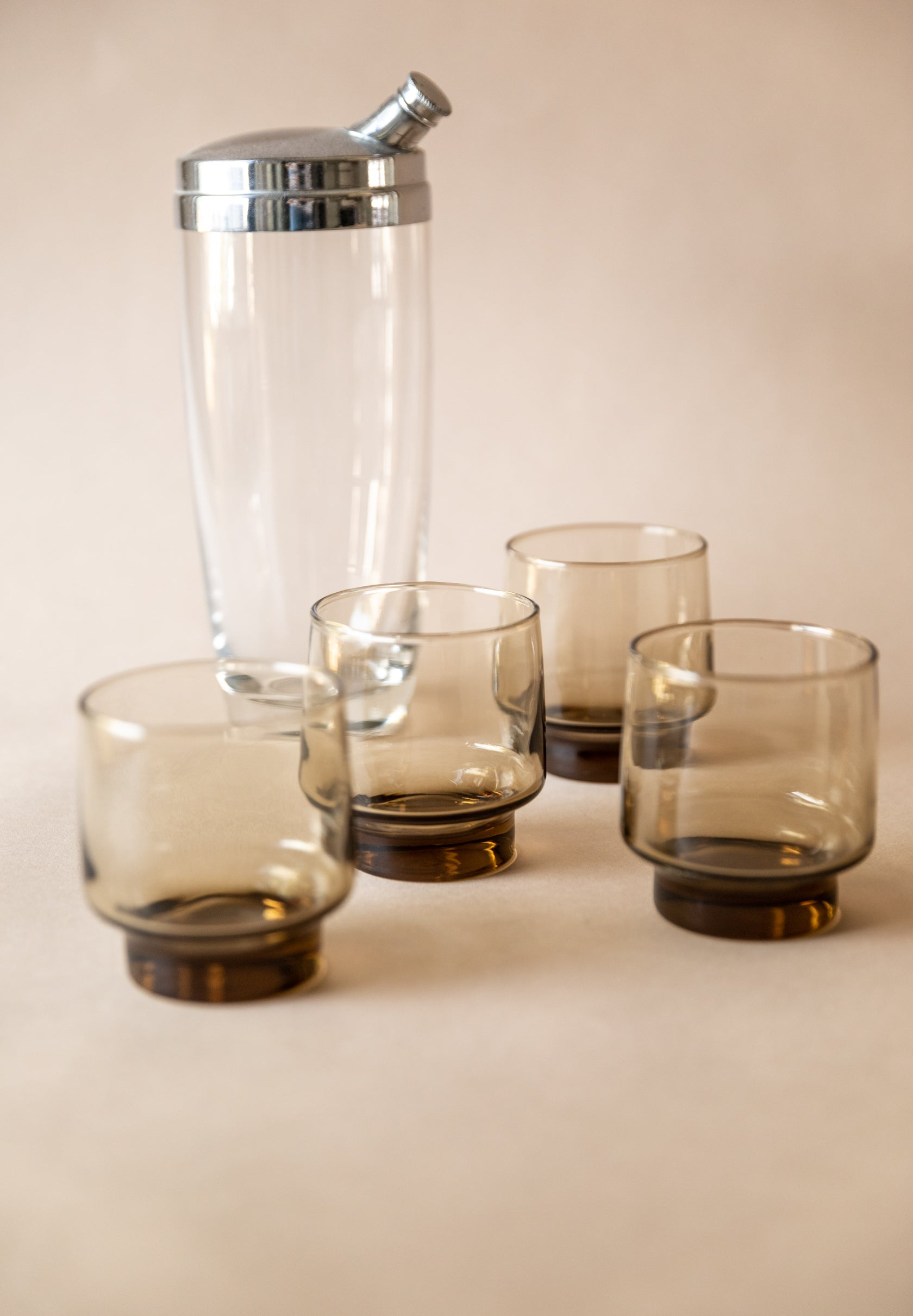 Amber Stackable Tumblers, set of 4