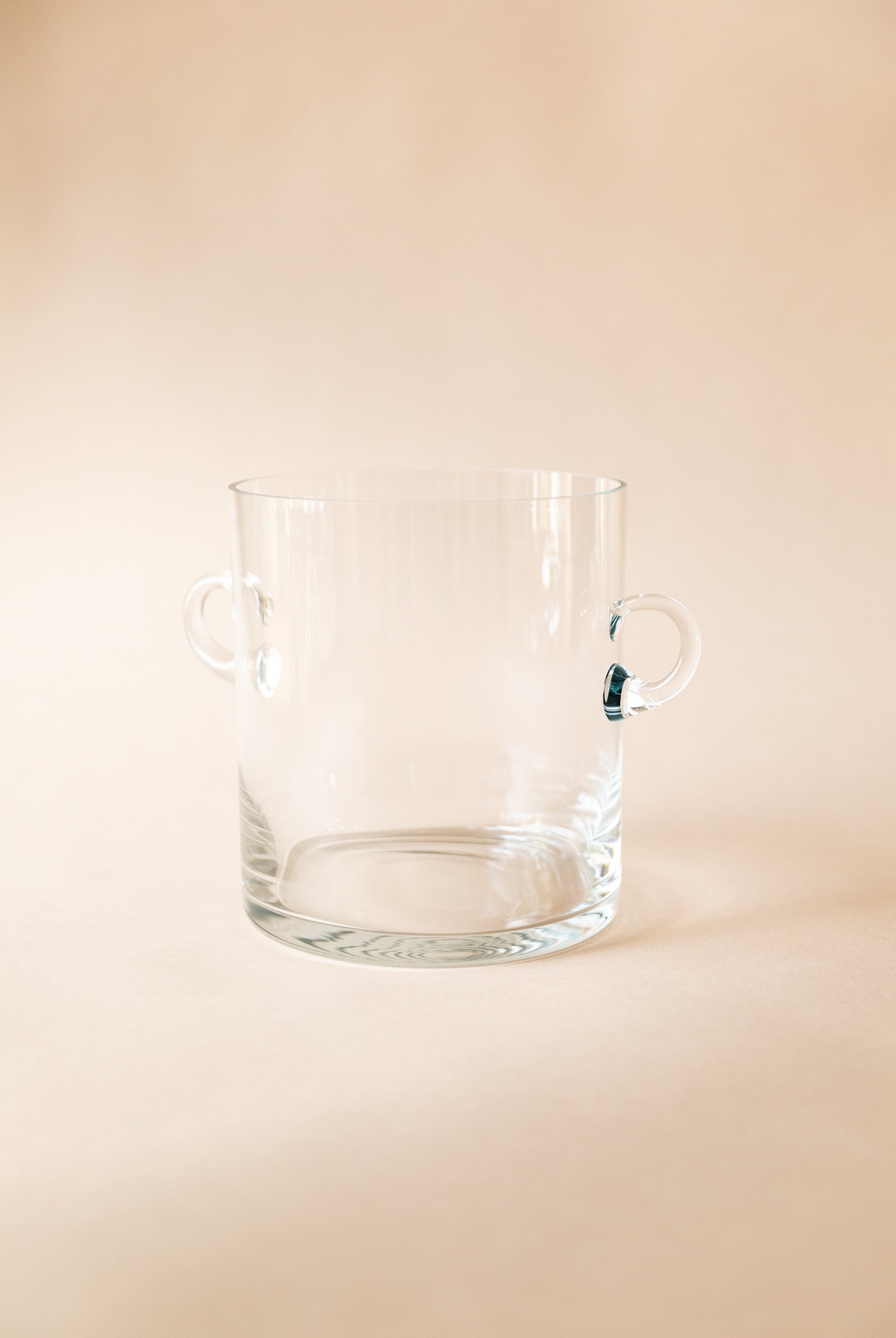 Glass Ice Bucket with Looped Handles